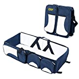 Professional Premium Products Baby Diaper Travel Bag Cum Bed Portable Foldable (Navy Blue)