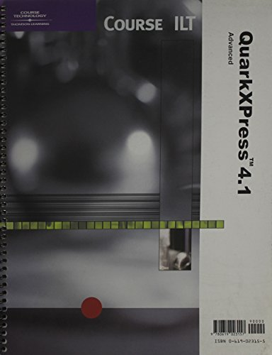 Quarkxpress 4.1: Advanced : Student Manual