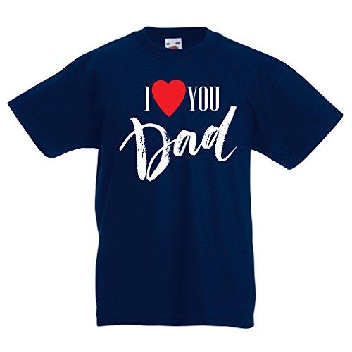 Camisas para niños Te Amo papá Día de Padres, Regalo de cumpleaños (3-4 Years Azul Oscuro