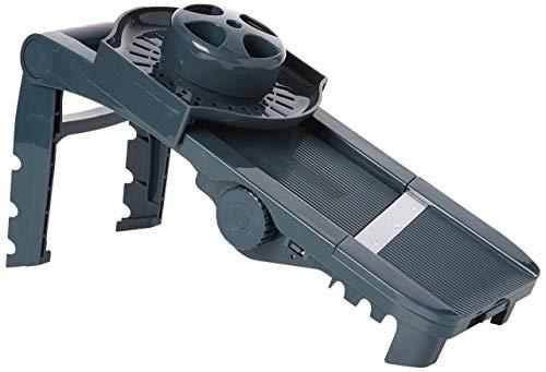 Lacor- 60331 - Mandolina De plástico 5 cuchillas y Exprimidor - Gris