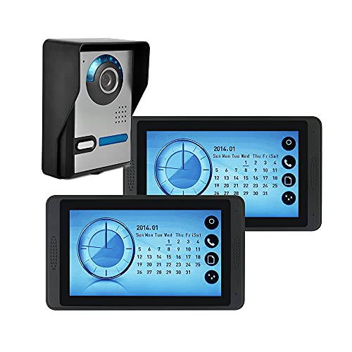 OUYA Cámara De Timbre con Video WiFi HD De 7 Pulgadas, Cámara con Video, Función De Visualización De Reloj, Soporte Máximo para Tarjeta SD De 32 GB - No Contiene,620fa12