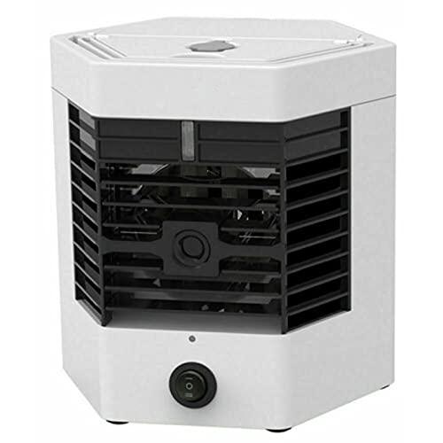 Jiaojie Ventilador portátil de aire acondicionado de refrigeración rápida USB recargable ventilador silencioso ventilador de escritorio con asa para oficina en casa
