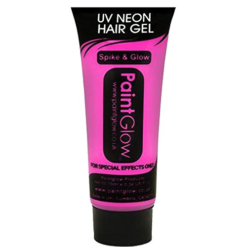 Smiffys - SM46096 - Gel Cheveux UV 10 ml Rose - Taille Unique
