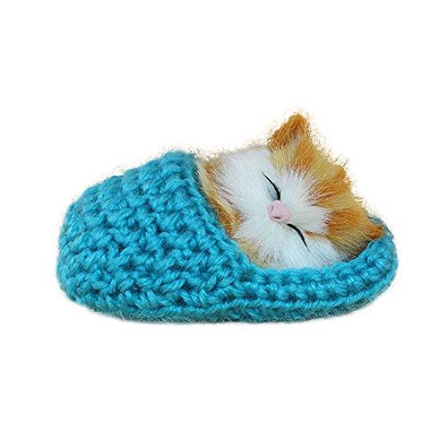 Homeofying - Zapatillas de Dormir para Gato con Sonido,