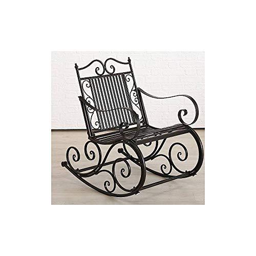 L'Héritier Du Temps Rocking Chair tuinstoel, schommelstoel, ijzer, zwart, 62 x 91 x 93 cm