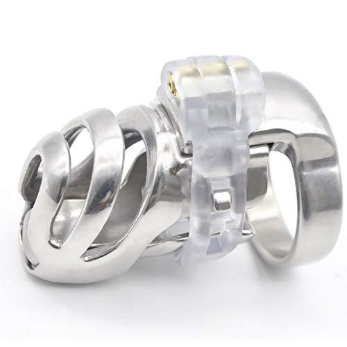 ZZQQ Metal Chasti'ty Dispositivo Hombre cómodo Virgin'ity Lock Chasti'ty Cinturón con pequeña Jaula (2,24 Pulgadas / 57 mm) Sunglasses (Size : 43mm)