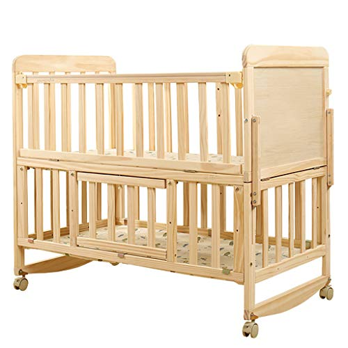 Why Choose YRC Double Layer Crib Solid Wood Newborn Shaker Splicing Bed, Variable Desk Locker, 3 Gea...