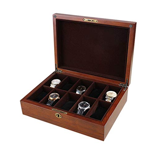10 rid Watch Box welry Display Rage Box Organizers Display ase with Pillows,Lockable Metal kle for Me SZWHO