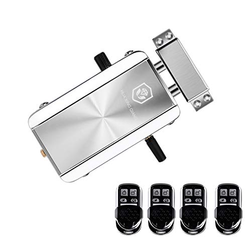 OWSOO Telecomando Home Door Lock Kit Telecomando Keyless Entry Serratura elettronica Smart Wireless Sistema anti-furto per il controllo degli accessi a catenaccio per l'appartamento