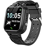 Kids Smart Watch for Boys Girls - Kids Smartwatch Phone with Calls 7 Games Music Player Camera Alarm Clock Calculator SOS Calendar Touch Screen Children's Smart Watch for 4-12 Years Old(Black)