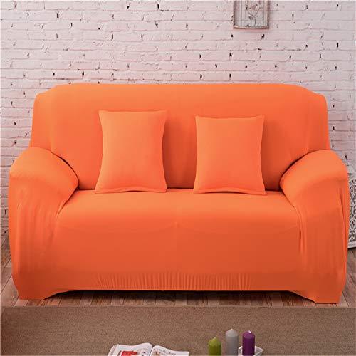 kailehi Elastisches, rutschfestes Einsitzsofa 90-140 cm Candy Orange,Anti-rutsch Sofabezug Wohnzimmer Sofabezug Outdoor Couch-abdeckungen M?Bel Protector Für ledersofa Haustier Hund