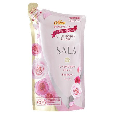 Kanebo Sala Moist Smooth Shampoo Refill 350ml (Green Tea Set)