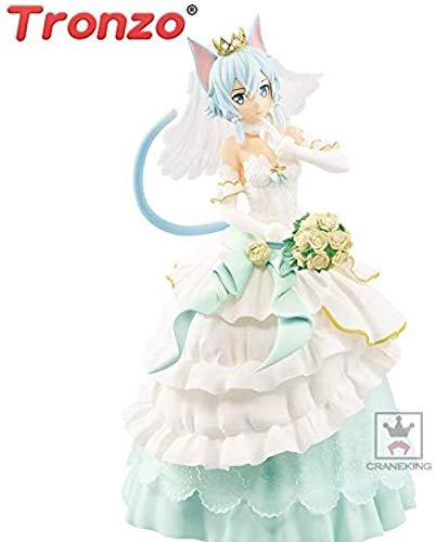 UanPlee-SC Personajes de Anime Tronzo Original EXQ Figura Anime Sword Art Online Asada Shino Wedding Cat Girl PVC Figura Modelo de Juguete Sao FigurasPersonajes de Anime