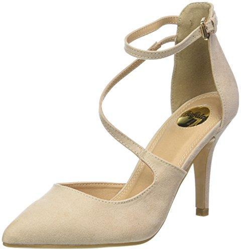 Buffalo Shoes Damen 315349 BHWMD IMI Suede Riemchensandalen, Beige (Nude 01 00), 39 EU