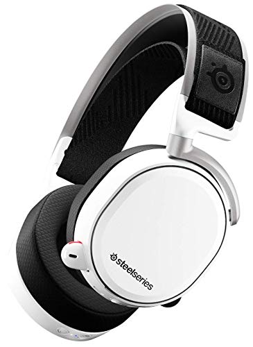 SteelSeries Arctis Pro Wireless - Auriculares de Juego inalámbricos (2,4 G y Bluetooth)  - Blanco