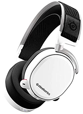 SteelSeries Arctis Pro Wireless - Gaming Headset - Hi-Res Speaker Drivers - Dual Wireless (2.4G & Bluetooth) - Dual Battery System - White from SteelSeries