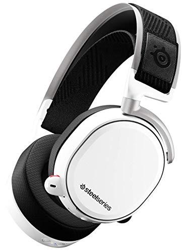 SteelSeries Arctis Pro Wireless - Casque Gaming sans fil (2,4 G & Bluetooth) - Pilotes d'enceintes haute résolution - Blanc