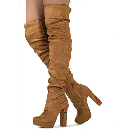 24acdcc3fc8ed Brown Heeled Boots: Amazon.com
