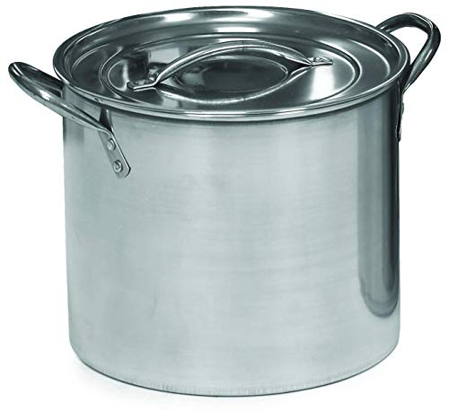 IMUSA USA Stainless Steel Stock Pot with Lid 8-Quart, Silver