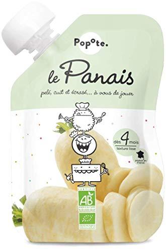 POPOTE.PRESENTE - BIO - Le Panais Gourde de Légumes pour Bébé - Dès 4 Mois - Texture Lisse - 120 g