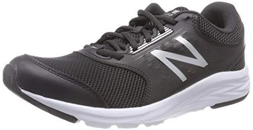 New Balance 411 Sneakers, Zapatillas de Correr Mujer, Negro (Black/White), 43 EU