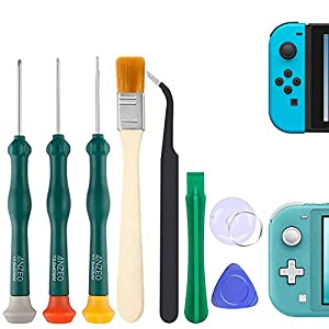 Triwing Screwdriver for Nintendo Switch, Professional Repair Tool Kit for Joy-con Joystick Replacement with Tweezers, Opening Pry Bar & Suction Cup