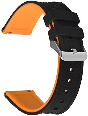 Fullmosa Quick Release Watch Band 20mm Silicone Rubber watch band for Samsung Galaxy Watch 42mm product image