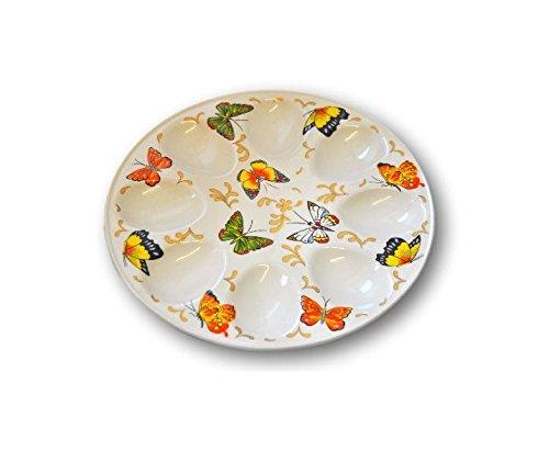 INTEROS - Piatto per uova di Pasqua in porcellana