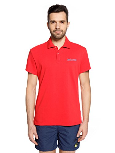 Just Cavalli - Herren-Poloshirt, XXL, Rosso