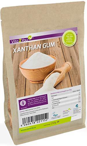 Xanthan Gum 250g im Zippbeutel - Glutenfrei - feines Xanthan Pulver in Lebensmittelqualität - Premium Qualität