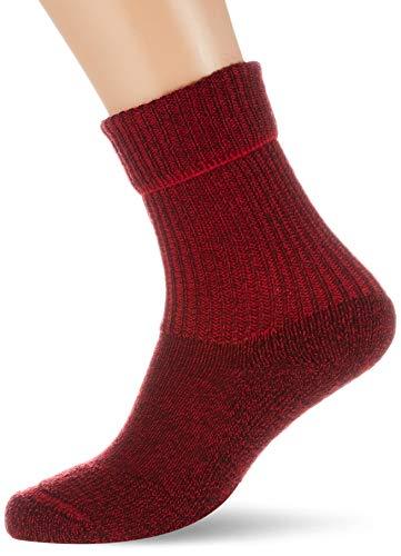 FALKE Unisex Socken Walkie Ergo U SO -16480, 1 Paar, Rot (Scarlet 8280), 42-43
