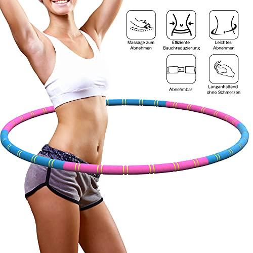 JOYSKY HulaHoop-Abnehmbarer wellenförmiger Hula Hoop Entworfen mit Massagefunktion Hochwertiger und stabiler Edelstahlkern Geeignet für Fitness / Training / Sport / Spiel / Outdoor-Unterhaltung