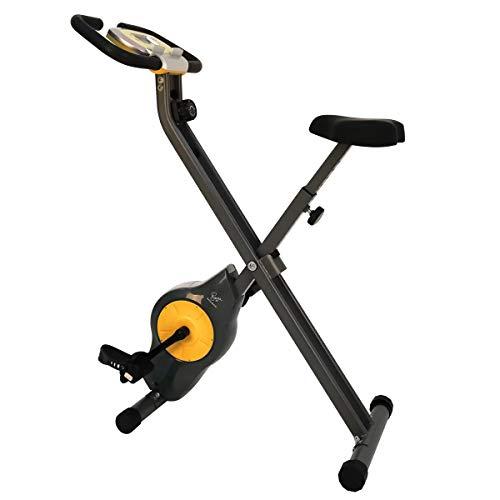 Davina McCall - Bicicleta estática de Ejercicio, Unisex, Gris y Amarillo