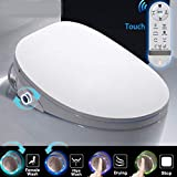 Electronic Toilet Seat, LED Display HD Heated Seat...
