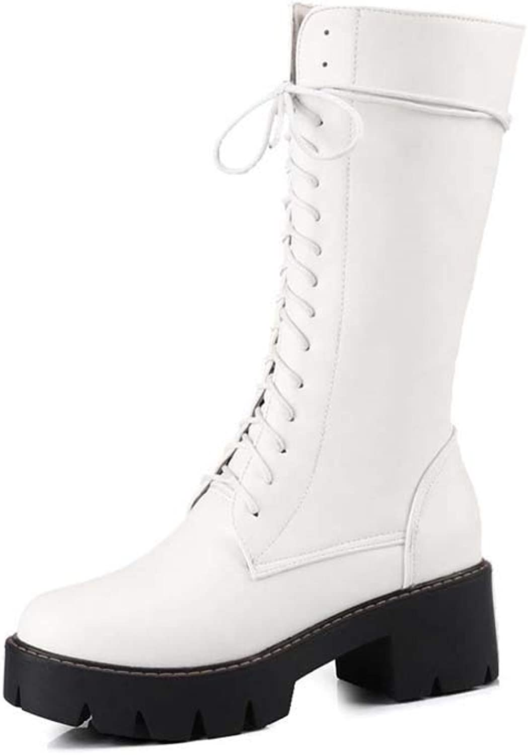 Ladies' Boots, Waterproof Platform with 34-43 Large Size Boots