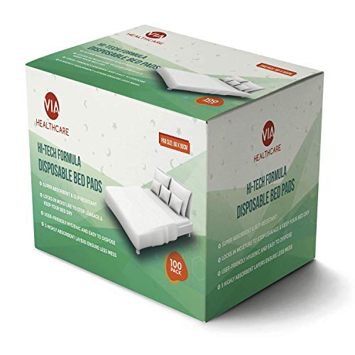 Almohadillas protectoras desechables muy absorbentes para incontinencia 100 camas 60 x 90 cm | Ideal para la noche