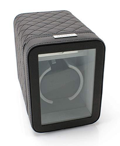 [Sale] Heiden Monaco Single Watch Winder - Black Leather - Battery Powered or AC Adapter