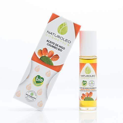 Naturoleo Cosmetics - Aceite Higo Chumbo BIO - 100% Puro y Natural Ecológico Certificado - 10 ml