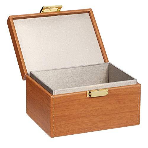 Famed Autoschlüssel Signal Blocker Box Signal Blocker Box Auto Schlüssel Safe Box Keyless Auto Security Anti-Diebstahl Große Aufbewahrungsbox Retro Style