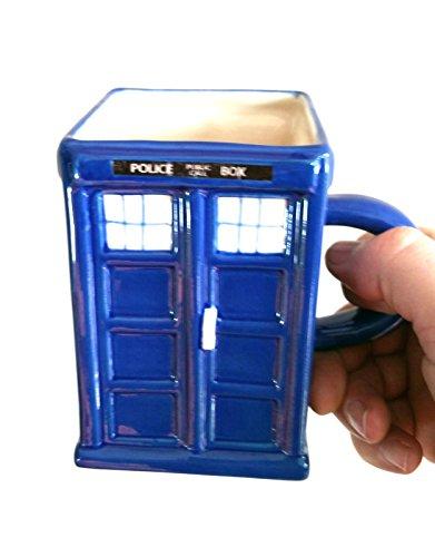 Tasse Police Box Tardis–(Met Police Box als in Dr Who verwendet)–Tasse aus Steingut