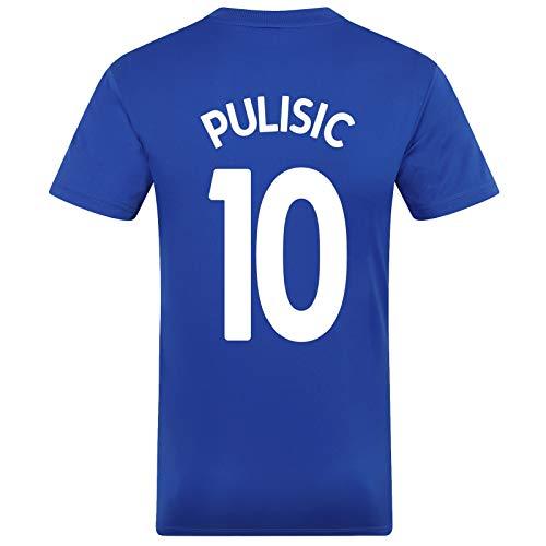 Chelsea FC - Herren Trainingstrikot - Offizielles Merchandise - Royalblau mit weißem Streifen Pulisic 22 - M