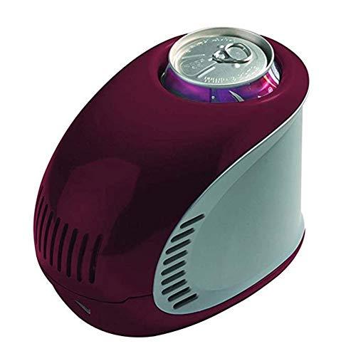 FQY-BX Mini réfrigérateur Réfrigérateur 0.35L Petite Boisson Maison Mini-réfrigérateur USB Charge Voiture Auberge 17 * 10.6 * 13cm -Multi-Couleur en Option (Color : Red)