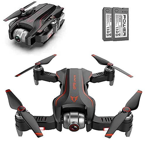 DCLINA Drone GPS con Fotocamera 4K, Drone Pieghevole Quadcopter WiFi FPV 18 Minuti Tempo Volo, Mantenimento dell'altitudine, Una Chiave decollo/atterraggio,