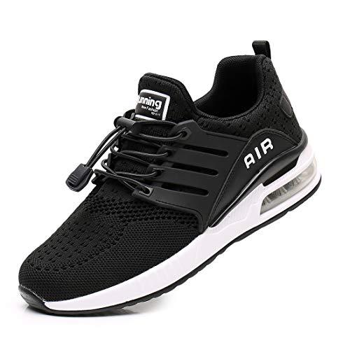Zapatillas de Deporte Hombre Mujer Ligero Zapatos para Correr Respirable Running Bambas Calzado Deportivo Andar Crossfit Sneakers Gimnasio Casuales Fitness Outdoor Antideslizante Black42