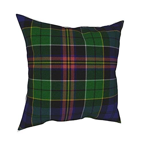 Reebos Funda de almohada de 45,7 x 45,7 cm, tradicional Allison Tartan Plaid funda de almohada decorativa para sofá, silla, dormitorios