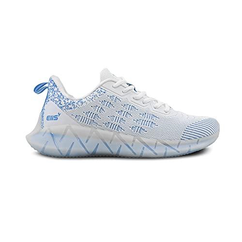 elis ElisCore, Zapatillas de Correr Hombre (Blanco Azul, Numeric_43)