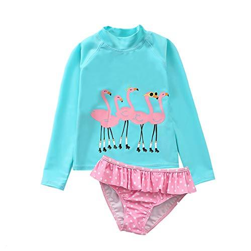 Baby/Peuter Meisjes Badpak Set Zonbescherming Lange Mouw Twee Stuk Romper Bodysuit