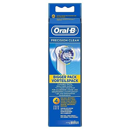 Oral-B Precision Clean EB20, Paquete de 4 Cabezales para Cepillos de Dientes Recargables