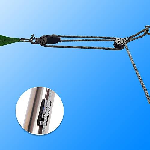 Toldoro 3-Fach Flaschenzugsystem - Spannset Sonnensegel zum einfachen spannen mit Sicherheisklemme CL257