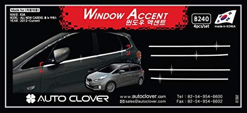 Autoclover B240 Wetterleiste für Fenster unter der Leitung, Chrom